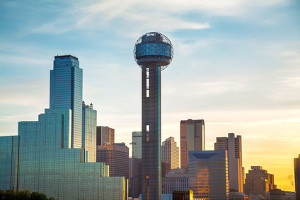 Dallas, Texas cityscape in the morning